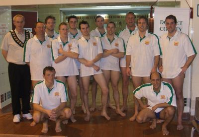 Dorset senior team pictured with 2008 County President Ray Honeybun